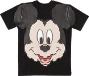 Mickey Mouse Print Cotton Jersey T Shirt
