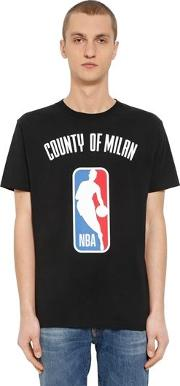 Nba Printed Cotton Jersey T Shirt
