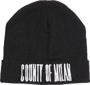 Sajama Embroidered Wool Knit Beanie Hat