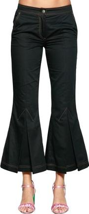 Flared Cotton Drill Pants