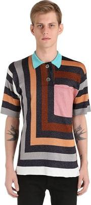 Graphic Knit Polo Shirt