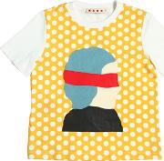 Face Printed Cotton Jersey T Shirt