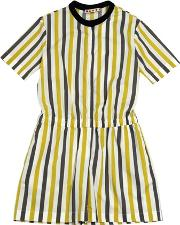 Striped Cotton Poplin Romper