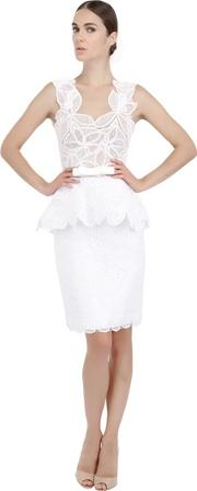 Cotton Lace And Tulle Dress