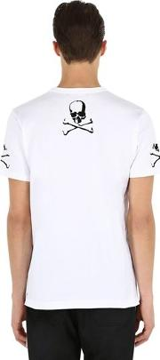 Skull Embroidered Jersey T Shirt