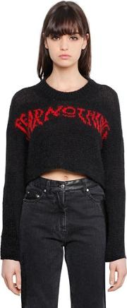 Fear Nothing Wool Cropped Sweater
