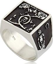 Death By Work Oxidized Chevalier Ring