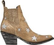 60mm Stars Leather Ankle Boots