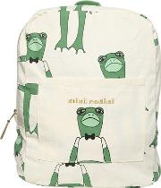 Frogs Organic Cotton Canvas Backpack