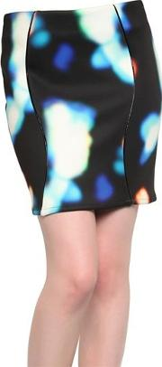 Backlit Print Neoprene Skirt