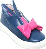 Bunny Bow Nappa Leather Slip On Sneakers