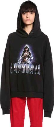 Hooded Euphoria Cotton Blend Sweatshirt
