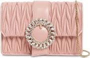 Bijoux Quilted Leather Clutch