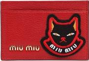 Cat Patch Leather Card Holder