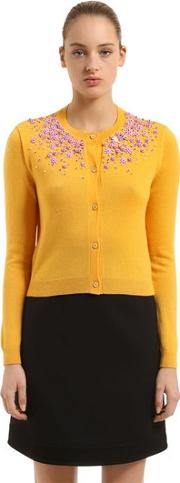 Flowers Cashmere Cardigan