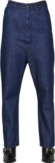 Medium Weight Washed Cotton Denim Jeans
