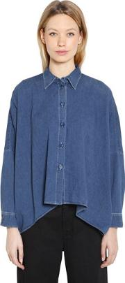 Boxy Fit Vintage Cotton Denim Shirt
