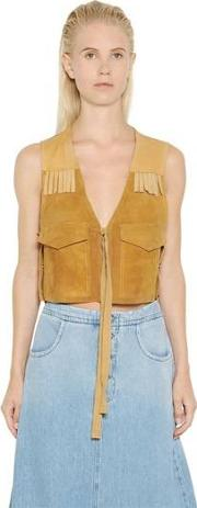 Fringed Suede & Nappa Leather Vest
