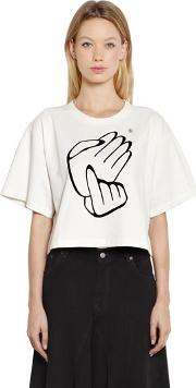 Japanese Counting Cropped Jersey T Shirt