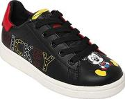 Mickey Print Nappa Leather Sneakers