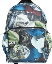 Hats Printed Nylon Canvas Backpack