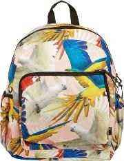 Parrots Printed Canvas Backpack