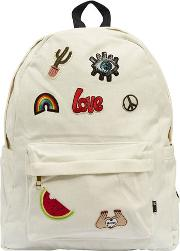 Patches Cotton Canvas Backpack