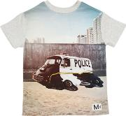 Police Printed Cotton Jersey T Shirt