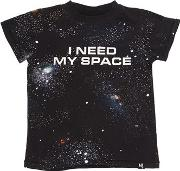 Space Printed Cotton Jersey T Shirt