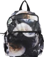 Space Printed Nylon Canvas Backpack