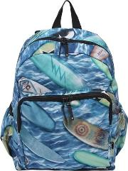 Surfboards Print Nylon Canvas Backpack