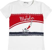 Diver Printed Cotton Jersey T Shirt