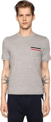 Cotton Jersey T Shirt W Pocket