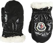 Nylon & Fauxshearling Gloves