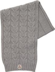 Wool Tricot & Cable Knit Scarf