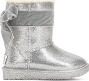 Faux Shearling & Rubber Boots