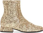 Glittered Faux Leather Ankle Boots