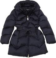 Quilted Nylon Satin Puffer Coat