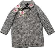 Roses Patches Boucle Coat