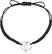 Cord Bracelet With Silver Heart