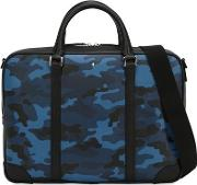 Small Camouflage Leather Briefcase Case