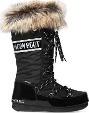 Monaco Nylon & Faux Leather Boots