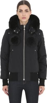 Debbie Down Bomber Jacket W Fur