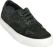 Embellished Techno Satin Sneakers
