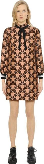 Rowley Cotton & Silk Dress With Bow