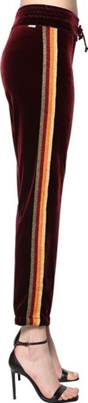 Velvet Track Pants W Lurex Band