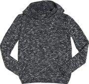Ribbed Tricot Wool & Cotton Sweater