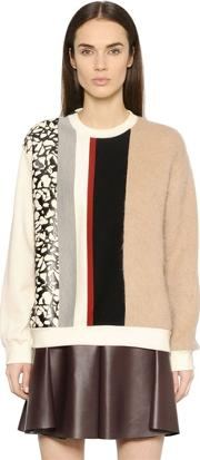 Patchwork Mohair & Wool Sweater