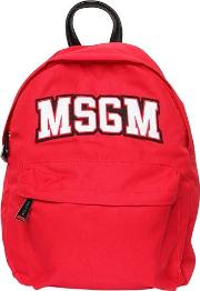 Logo Patch Nylon Canvas Backpack