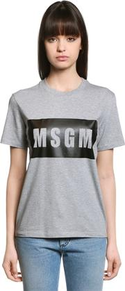 Loose Fit Logo Cotton Jersey T Shirt